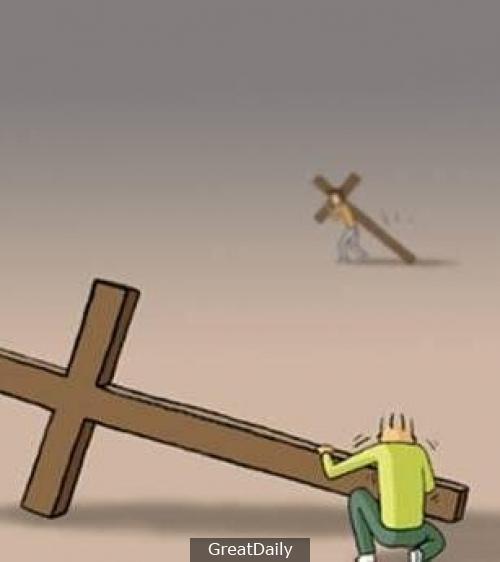 人生的路上我們每個人都背負著各種各樣的十字架在艱難前行,當你想放棄時,一定要看看這個漫畫!