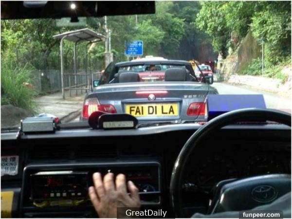 香港爆笑自訂車牌,梗有一個0係左近!